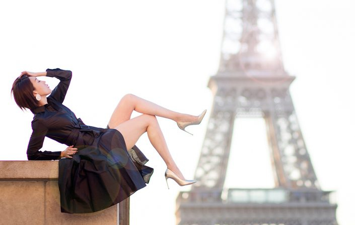 Paris photoshoot for women