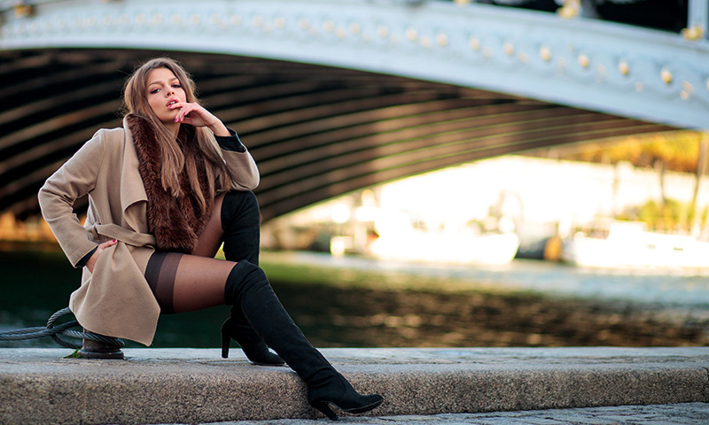 paris photographer photoshoot fashion women pont alexandre